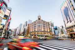 Ginza District, Tokyo - Japan Stock Image