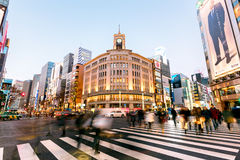 Ginza District, Tokyo - Japan Royalty Free Stock Photos