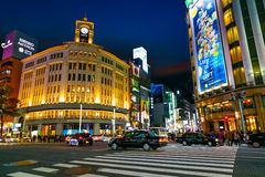 The Ginza district in Tokyo, Japan Stock Photography