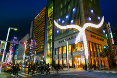 The Ginza District in Tokyo Stock Photography