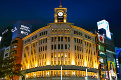 The Ginza District in Tokyo Royalty Free Stock Images