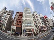 Ginza gata, Tokyo, Japan arkivbild