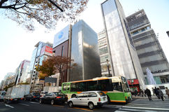 GINZA, JAPAN - NOV 26 : Landmark of Ginza shopping area. The popular tourist spot in Tokyo. Stock Image