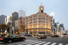 Ginza okręg Tokio, Japonia, - obraz royalty free