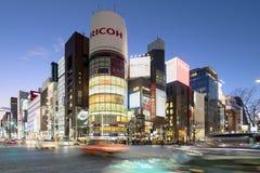 Ginza okręg Tokio, Japonia, - Zdjęcie Stock