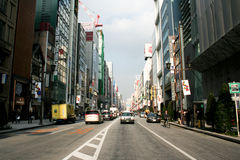 Ginza Road Royalty Free Stock Photography