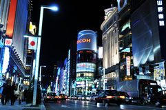 Ginza shopping district Royalty Free Stock Photo