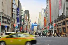 Ginza shopping district, Tokyo japan Stock Image