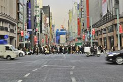 Ginza shopping district, Tokyo japan Stock Photo