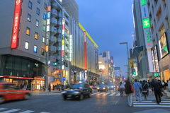 Ginza shopping street Tokyo Royalty Free Stock Image