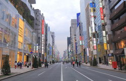 Ginza shopping street Tokyo Royalty Free Stock Image