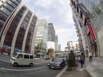 Ginza-Straße, Tokyo, Japan Lizenzfreies Stockfoto
