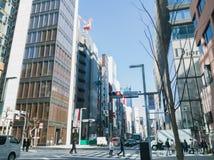 Ginza-Straße stockfotos