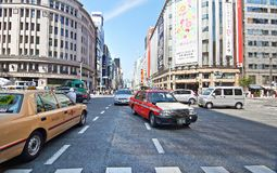 Ginza street Royalty Free Stock Images