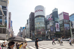 Ginza street Royalty Free Stock Photography
