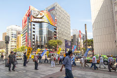 Ginza street in Tokyo Royalty Free Stock Photos