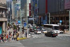 Ginza Street, Tokyo, Japan Stock Photos