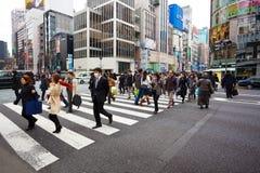 Ginza, tokyo japão Imagens de Stock Royalty Free