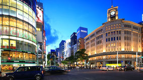 Ginza,Tokyo,Japan. Tokyo,Japan - May 8:Time-lapse shot of Ginza shopping area in Tokyo on May 8, 2014. Ginza is one of best shopping destination in Tokyo