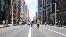 Ginza Tokyo ohne Autos Lizenzfreie Stockfotos