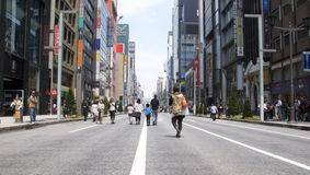 Free Ginza Tokyo With No Cars Royalty Free Stock Photos - 16111858