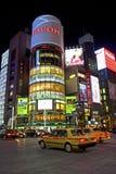 Ginza yon-chome korsning i Ginza, Tokyo, Japan arkivbilder