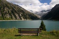ginzling的湖视图 库存图片