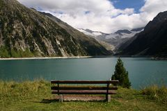 Ginzling lake / view Stock Image