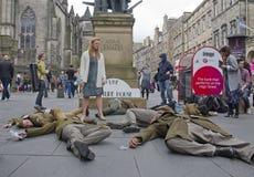 Giocando completamente alla frangia di festival di Edinburgh immagini stock libere da diritti