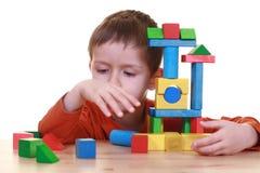Giocando con i blocchi Immagini Stock