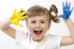 Giocando con i colori Fotografia Stock