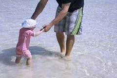 Giocando con il daddy Fotografie Stock