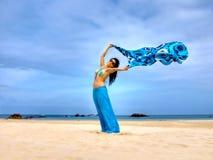 Giocando con il vento Fotografia Stock Libera da Diritti