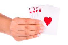 Giocando con l'amore Immagini Stock