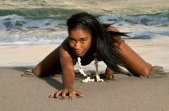 Giocando con la sabbia. Fotografia Stock Libera da Diritti