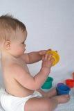 Giocando con le tazze Fotografie Stock