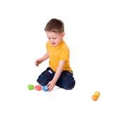 Giocando con le uova di Pasqua Fotografia Stock