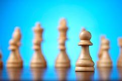Giocando degli scacchi Fotografia Stock Libera da Diritti