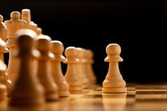 Giocando degli scacchi Fotografia Stock