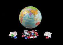 Giocando il mondo assente Immagini Stock