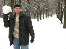 Giocando in inverno Fotografia Stock Libera da Diritti