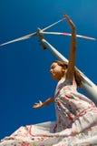Giocando nel vento Immagine Stock Libera da Diritti
