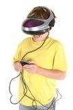 Giocando nella realtà virtuale Immagini Stock Libere da Diritti