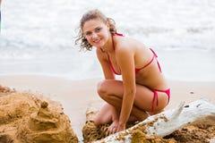 Giocando in sabbia Fotografia Stock
