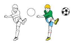 Giocar a calcioe del ragazzo Royalty Illustrazione gratis