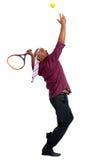 Giocar a tennise dell'uomo di affari Immagini Stock Libere da Diritti