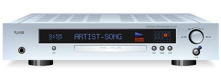 Giocatore ad alta fedeltà del CD DVD MP3 royalty illustrazione gratis
