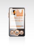 Giocatore alla moda di vettore con l'interfaccia arancione royalty illustrazione gratis