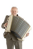 Giocatore anziano dell'armonica Fotografie Stock Libere da Diritti