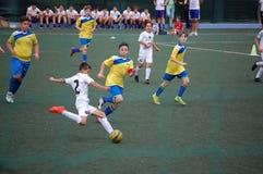 Giocatore dei giovani di calcio Fotografia Stock Libera da Diritti